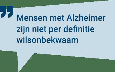 Vader of moeder met dementie heeft testament gewijzigd