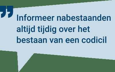 Testament opmaken zonder notaris? Bespaar notariskosten met een Codicil